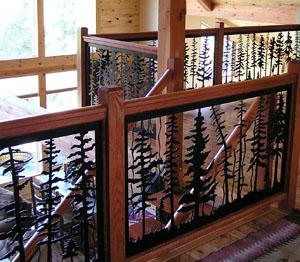 Indoor Balcony Railing Forest
