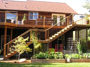 Large Deck and Stair Railing Hood River