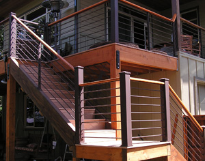 Round Stock Deck Railing