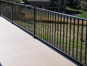 Custom Railing, Multi-Level Wrap Around Deck