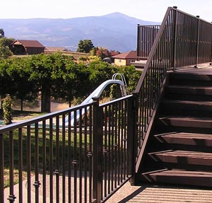 Custom Multi-level Deck Railing White Salmon