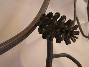 Pinecone Coatrack Close-up