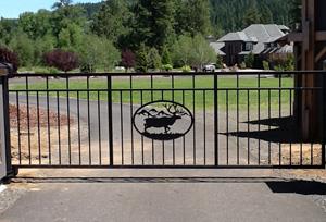 Custom Deer Design Driveway Gate