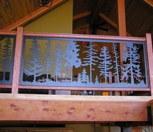 Fir Tree Balcony Panel