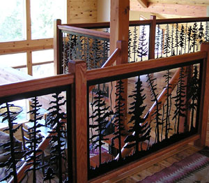 Indoor Balcony Railing  Forest