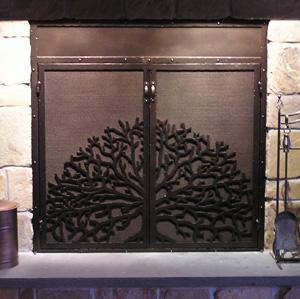 Fireplace Screen Oak Tree