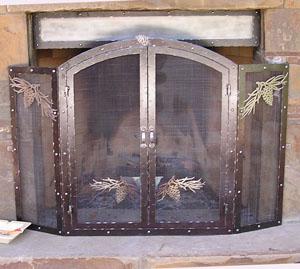 Pine Cone Fireplace Screen