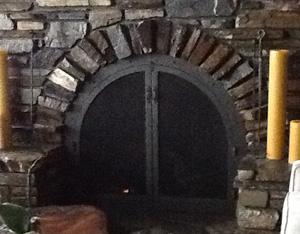 Custom Fireplace Screen Curved, Mosier