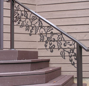 Custom Grape Hand Rail