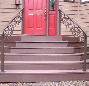 Custom Metal Hand Rail White Salmon