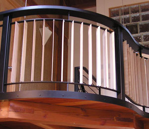Custom Curved Balcony Rail