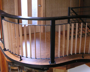Custom Curved Loft Railing