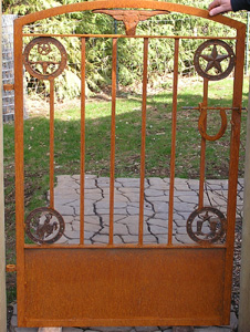 Custom Texas themed garden gate