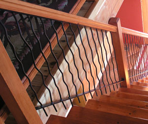 Cabin Metal Twig Stair Panel