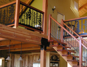 Custom Panels and Stair Railing
