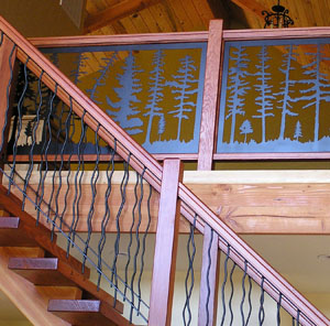 Tree Panel and Twig Railing